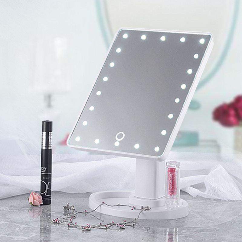 Schönheit & Gesundheit Make-up Spiegel Mit Licht Led Touchscreen 360 Rotation Mit 16/22 Led-leuchten Gesundheit Schönheit Einstellbare Arbeitsplatte Make-up Spiegel Geschickte Herstellung Schminkspiegel