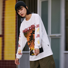 EFUNGAL Anime 3d Printed  Long Sleeve Casual Cotton T-shirts For Men And  Women