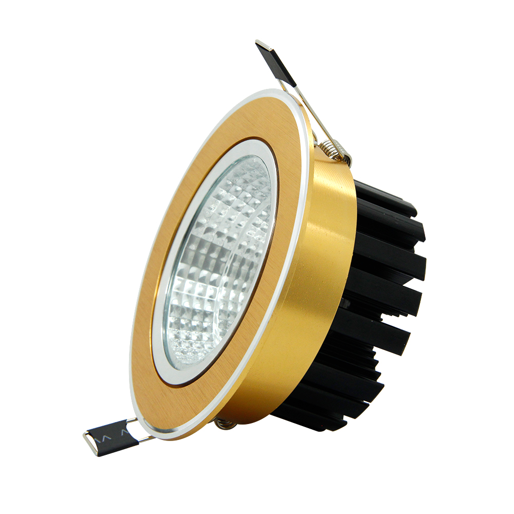 Luksuzna zlata navzdol luč 7W / 9W / 12W / 15W / 18W / 20W vgradna - Notranja razsvetljava - Fotografija 3