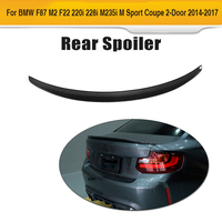 2 Series F22 Carbon Fiber Rear Lid Wing Spoiler for BMW F87 M2 Coupe 14 17 220i 228i M235i M Sport Car Style