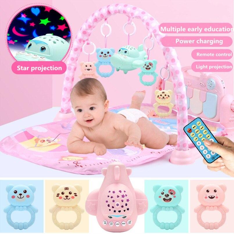 Tapis de jeu Musical pour bébé 0-36 mois tapis pour enfants tapis de Puzzle éducatif avec clavier de Piano tapis d'activité rampant pour bébé Gym jouets