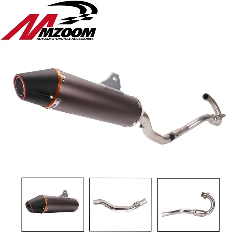 Motorcycle accessories stainless steel Exhaust pipe Complete System Slip On Muffler for honda CRF230F CRF150F 2003-2013 stainless steel tuned pipe exhaust for zenoah rcmk sikk rc boat 23 30cc 380mm