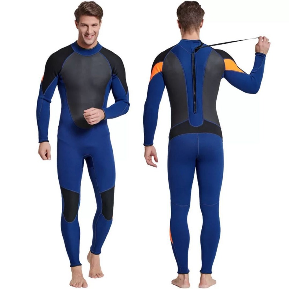 Sbart Mens Neoprene Wetsuit Mergulho 3mm Patchwork Surf Spearfishing  Swimsuit Scuba Diving Suit Equipment 543ec0cef