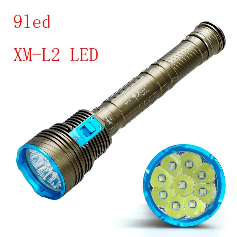 30000 Lumen XML 9x L2 LED Underwater Waterproof LED 90W 3-Mode dive Diving Flashlight Torch 200M Flash Light Lamp Lantern 3 3 300 30000