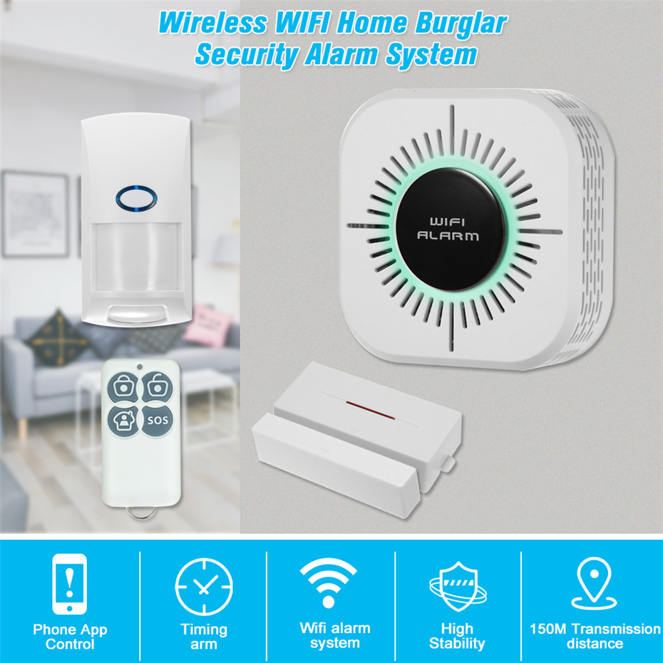Wireless RF433 PIR Motion Sensor Door Sensor Smart Home Burglar Security Alarm System Work With Wifi Alarm Host Home Protection