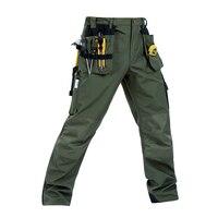 Men Working Pants Multi Pockets Wear Resistant Worker Mechanic Cargo Pants Work Wear Trousers High Quality
