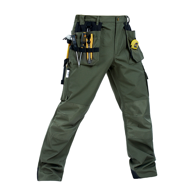 Men working pants multi-pockets wear-resistant worker mechanic cargo pants work wear trousers high quality machine repair pants