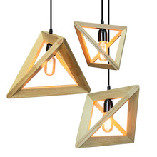 цены на Modern pendant light Wood lamp restaurant bar coffee dining room  hanging light fixture  в интернет-магазинах