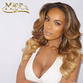 Virgin Brazilian Human Hair Three Tone Ombre Full Lace Wigs Body Wave Ombre Blonde Lace Front Wig For Black Women