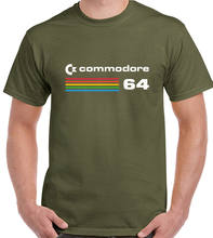 Commodore 64 Pria Retro T-shirt 80's Retro Konsol Permainan Video Game PC Klasik 2019 Fashion T Shirt Fashion Pria tee(China)