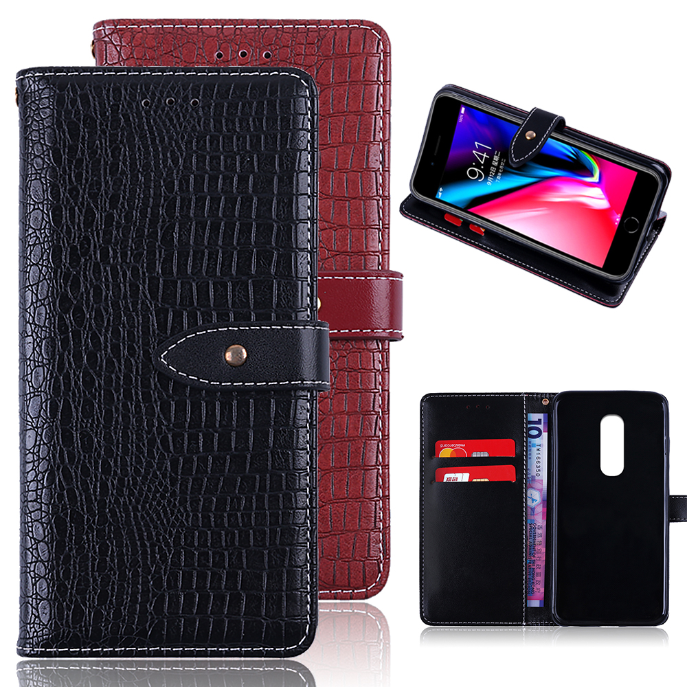 UTOPER Wallet Flip Case For OnePlus 6 Luxury Wallet Case Hold PU Leather Flip Case For O ...