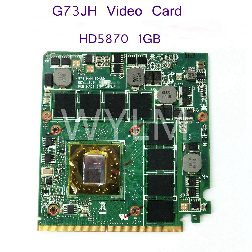 G73_MXM HD5870 1GB 216-0769008 Video Card For ASUS G73 G73JH Laptop VGA Graphics Card board 100% Tested Working Free Shipping original genuine hd 8490m hd8490m 1gb 1024mb graphic card for dell hd8490 display video card gpu replacement tested working