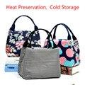 Tragbare Isolierte Leinwand Schalen Tasche Thermische Lebensmittel Picknick Lagerung Taschen Kühler Tote Lebensmittel Tragen Tasche|bag thermal|bag coolerbag thermal food -