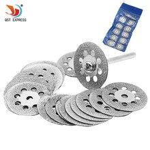 New Hot Sale 10Pcs 22mm Mini Sharp Diamond Cut Off Rotary Tool Cutting Disc Disks DIY