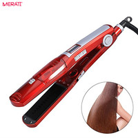 UKLISS Curling Irons 2 In 1 Ceramic Flat Iron Steam Curling Irons Styling Tools Hair Straightener