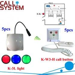 Połączeń z numerami telefonów alarmowych systemu K-W3-H dzwonek recepcyjny dla pacjenta i K-3L korytarz światła dla pielęgniarki z zewnątrz