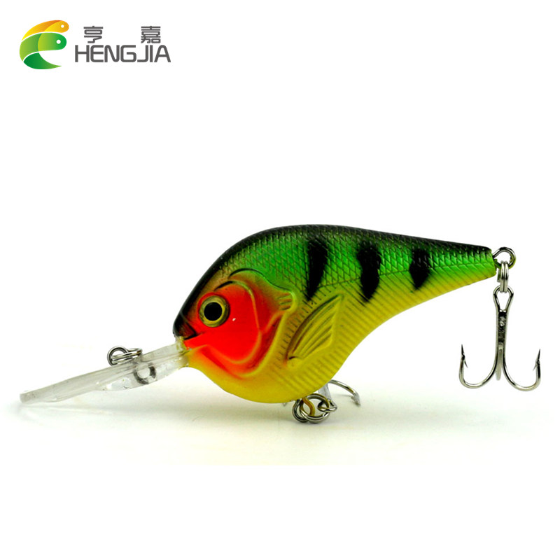 HENGJIA 1ps 9.5cm 11.2g isca Artificial Fishing Lures Crank Baits 3d Fish Eye Minnow Crankbait Hard Bait Plastic Laser Lure 9cm 8 3g laser reflective artificial fishing lure hard plastic minnow bait 3d fish eye fake baits mi091