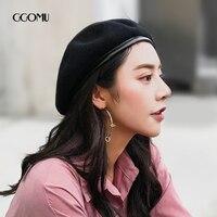 GGOMU Brand Winter Women Hat Vintage Wool Berets Hat British Style Beanie Hat Autumn And Winter