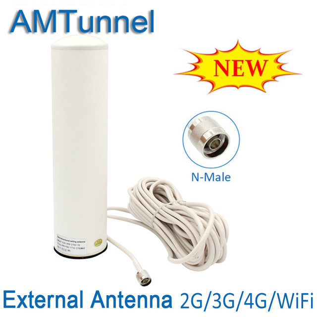 4G Antenna 3G Indoor Antenna 4G GSM Antenna 12dbi Omni Antenna 10m Cable N Male For 2G 3G 4G Mobile Signal Booster