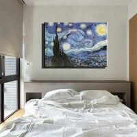Famoso artista pintura al óleo reproducción de van gogh noche Estrellada de pared imagen de arte moderno lienzo abstracto pinturas sala de estar