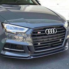 М Стиль углеродного волокна передний сплиттер спойлер для Audi A3 S-LINE S3 седан только