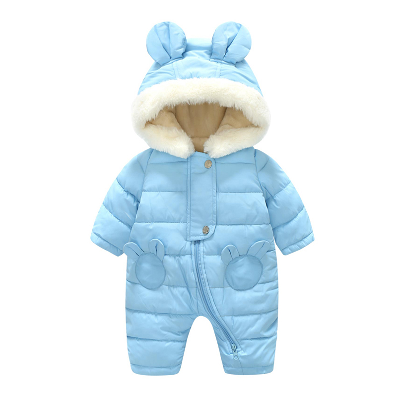 Winter Thick Newborn Baby Rompers Warm Infant Clothes Baby Boys Girls Romper Jumpsuit Kid Hooded Outerwear Snowsuit For 0-12M little devil baby rompers winter boys costume girls warm infant snowsuit kid jumpsuit children outerwear newborn baby clothing