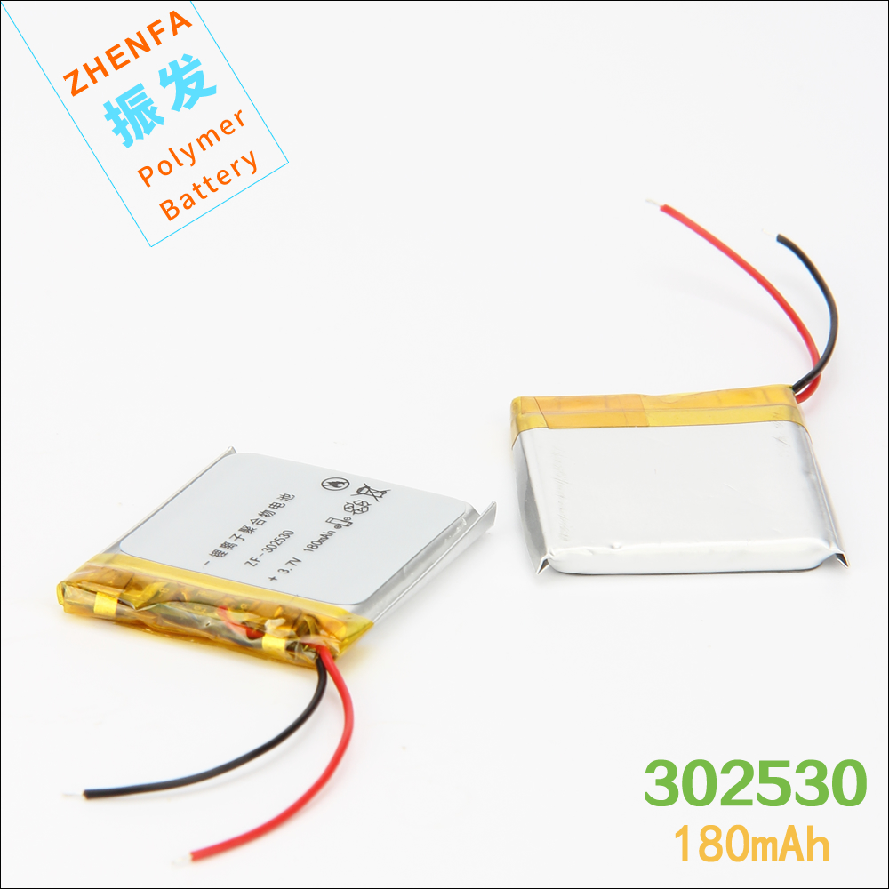 <font><b>302530</b></font> 3.7V 180mAh PLIB Lithium polymer Battery with Protection Board for mp3 MP4 speaker voice recorder pen smart watch 032530 image