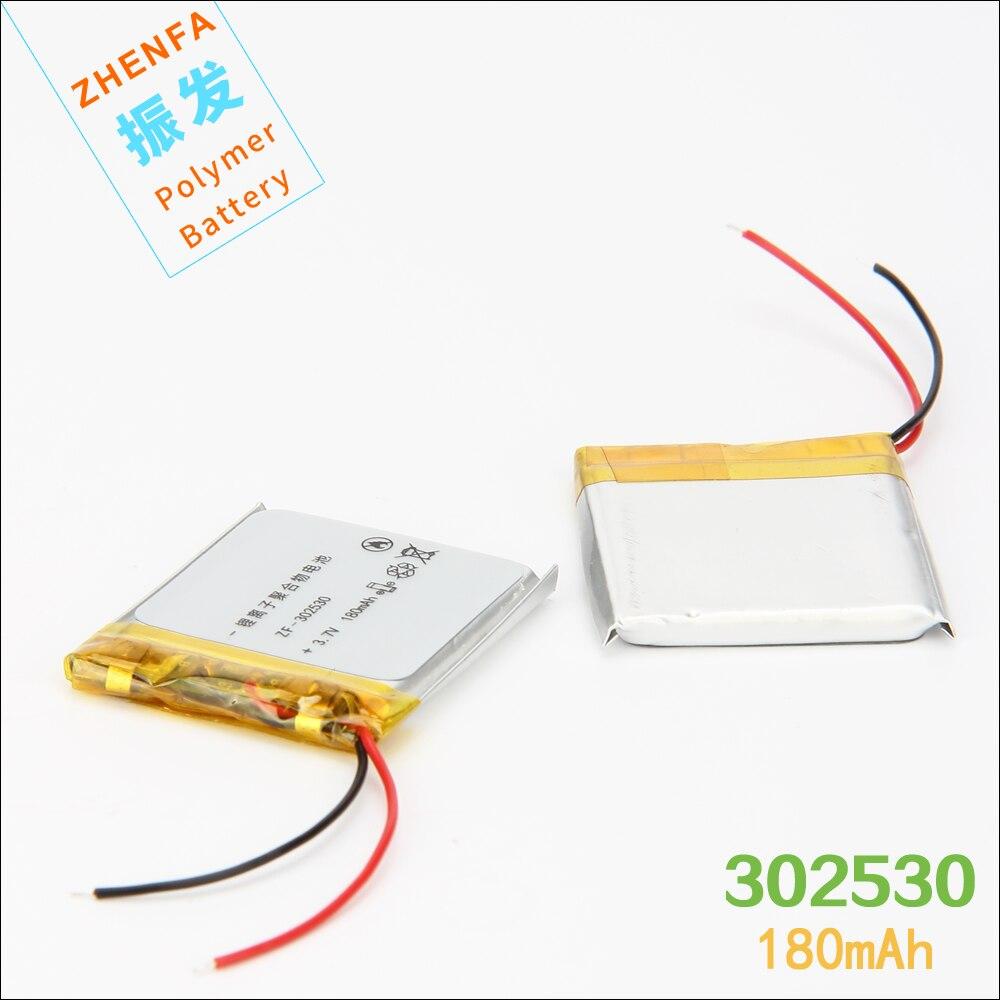 302530 3.7 V 180 mAh PLIB Au Lithium polymère Batterie avec Protection Board pour mp3 MP4 haut-parleur enregistreur vocal stylo intelligent montre 032530