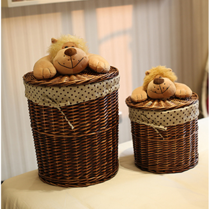 Elephant hamper wicker vintage rattan wicker elephant basket boho childrenus storage with - Elephant wicker hamper ...