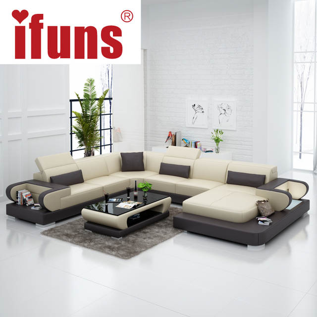 Online Shop Ifuns Couches For Living Room Modern Leather Sectional