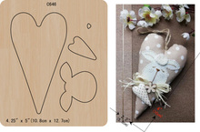 Matrices de découpe en bois pour Scrapbooking, cœur, nouveauté C 646, différentes tailles