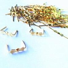 1000 шт. L33mm хром/Золотая Бабочка Пряжка/зажимы для галстуков, хрустальные люстры металлический разъем, украшенная бантиком-бабочкой