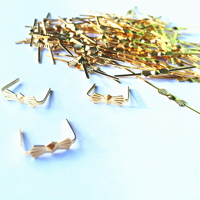 Free Shipping 1000pcs L33mm Chrome/Gold Butterfly Buckle/ Tie Clips, Crystal Chandelier Beads Connector Metal Bowtie Butterfly .