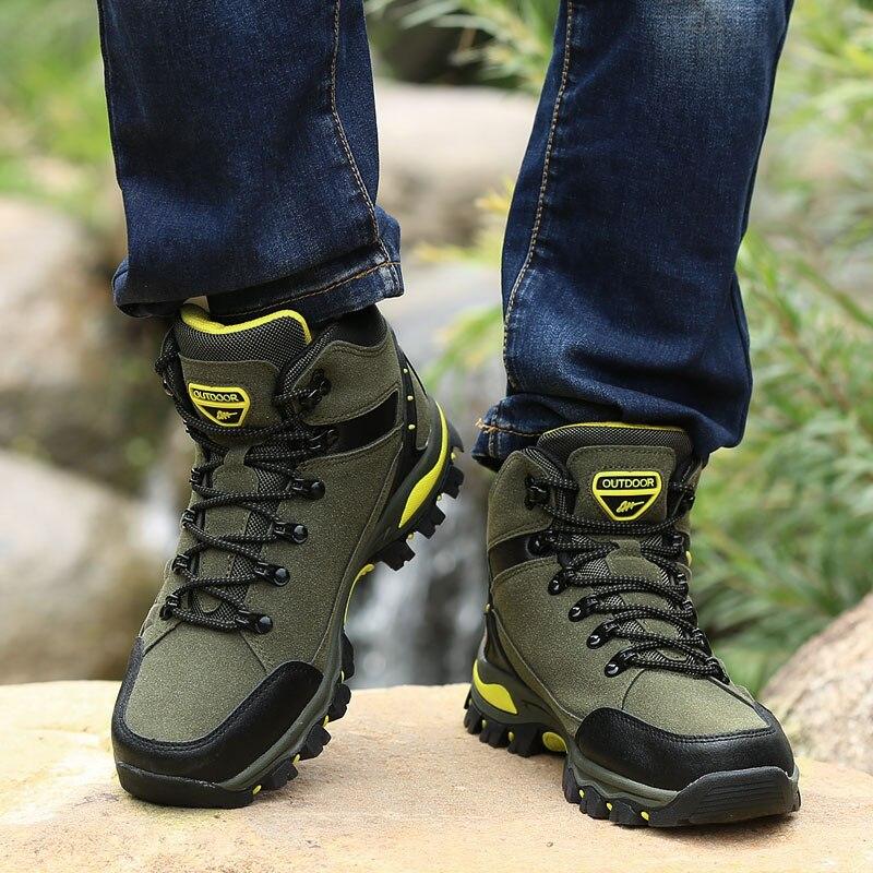 Image 5 - Winter Outdoor hiking shoes women waterproof non slip climb mountain trekking mujer Unisex Walking shoes warm men size 35 45Hiking Shoes   -