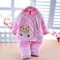 Algodão novo quente 2 pcs a Roupa Do Bebê Recém-nascido Meninos Meninas Outfits & Conjuntos de Inverno