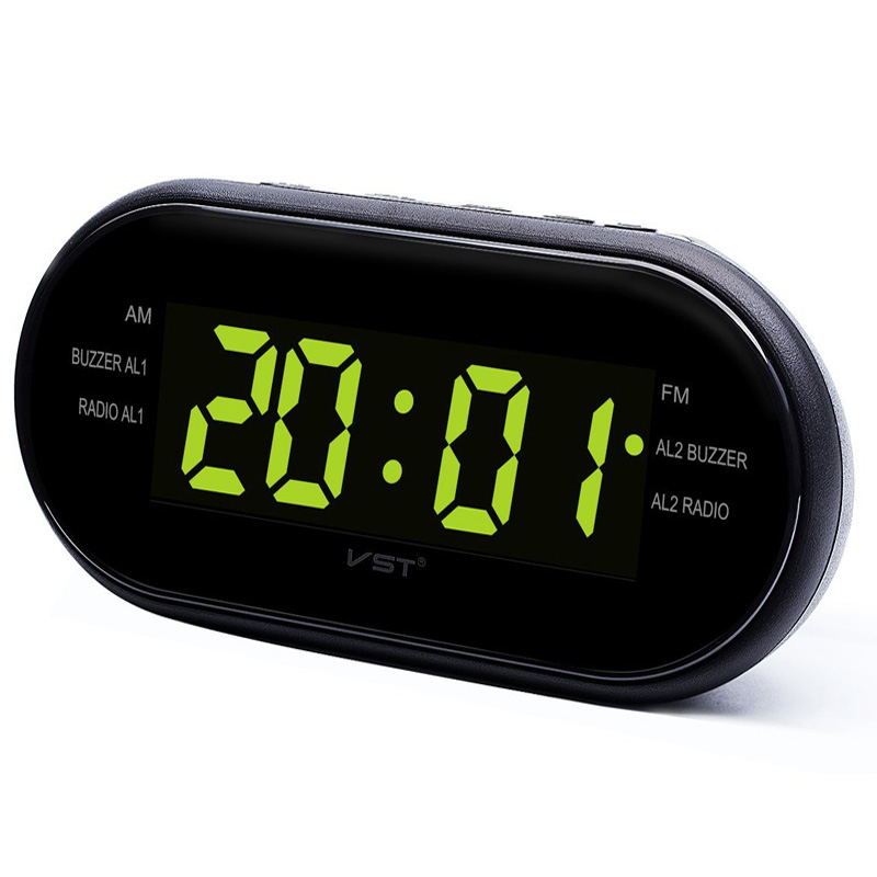 EAAGD LED Digital Alarm Clock AM/FM Radio with Dual Alarms Sleep & Snooze Function Outlet Powered Big Digit Display for Bedroom