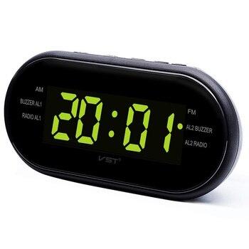 EAAGD LED Digital Alarm Clock AM/FM Radio With Dual Alarms Sleep U0026 Snooze  Function Outlet Powered Big Digit Display For Bedroom