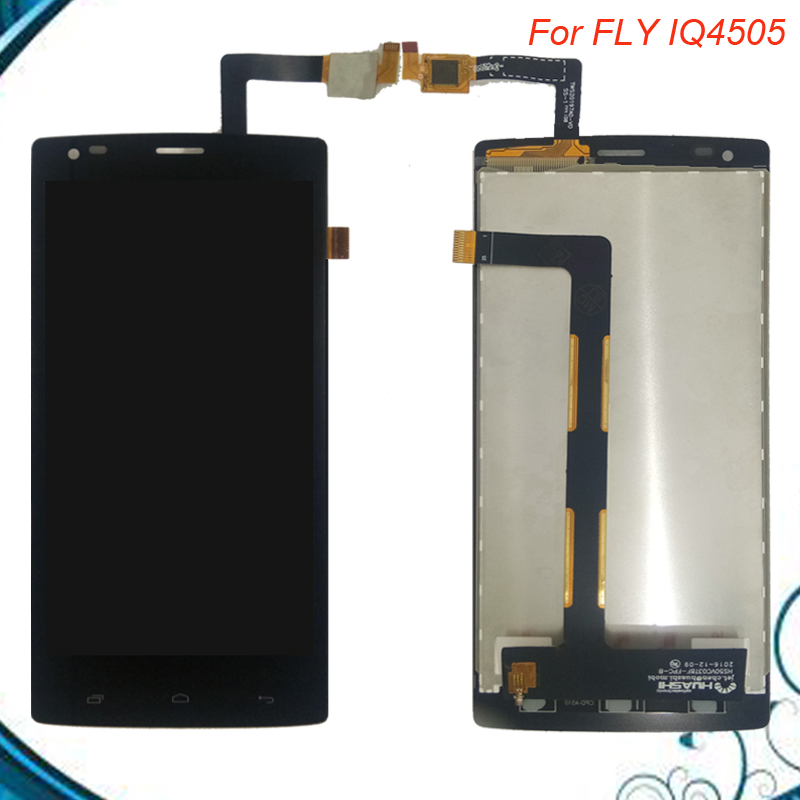 Black Lcd For FLY IQ4505 Quad Era Life 7 IQ 4505 LCD Display+Touch Screen Digitizer Assembly Free Shipping