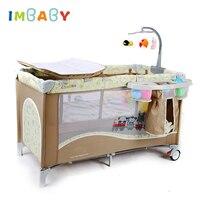 Детские кроватки для новорожденных с пеленальным столиком детская игровая качалка детское гнездо с тележкой детская кровать