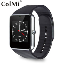 ColMi Smart Watch GT08 Sync Notifications With TF Card SIM Card Slots Compatible Android phone iPhone Push Messages Smartwatch