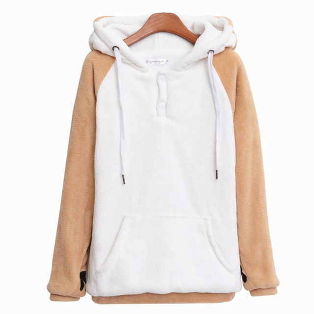 Kawaii Bts Hoodies Women Harajuku Sweatshirt Winter Plush Hoody Cute Doge Muco Pullovers Hooded Sweatshirts Moletom Feminino