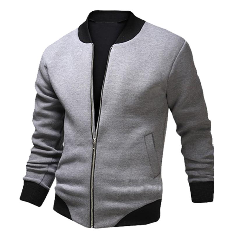 3de306ceb0e New Gray Bomber Jacket Men 2015 Fashion Design Mens Slim Zipper Baseball  Jacket Casual Brand Stylish Varsity Jacket Veste Homme