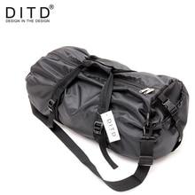 Купить с кэшбэком DITD 2018 Men Travel Bags Large Capacity Duffle Bag Shoulder Bag For Women  Waterproof Foldable Bags Black training Handbags
