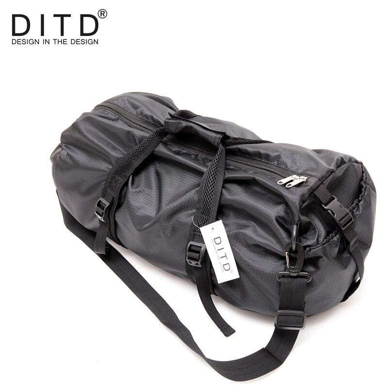 DITD 2019 Men Travel Bags Large Capacity Duffle Bag Shoulder Bag For Women  Waterproof Foldable Bags Black training Handbags