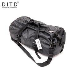 DITD 2019 Men Travel Bags Large Capacity Duffle Bag Shoulder For Women  Waterproof Foldable Black training Handbags