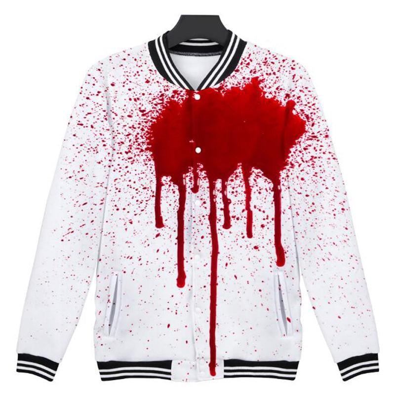 Halloween Pumpkin 3D Print Cool College Baseball Jacket Coat Men Women Winter Slim Warm Baseball Uniform Outwear Veste Homme