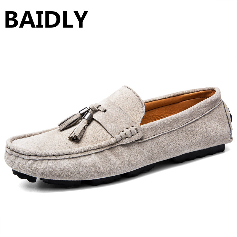 ... Genuine Leather Men s Flats Casual Luxury Brand Men Loafers Comfortable  Soft Driving Shoes Slip on Leather Moccasins. -16%. Click to enlarge 15b4b1ed521