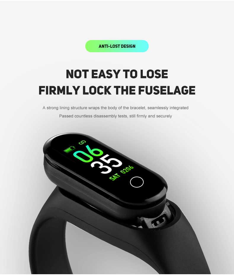 חכם Wristbands צבע מסך רב תפקודי חכם להקת שעון שיחת מחדש mi nder כושר פעילות Tracker שלב דלפק pk mi להקה