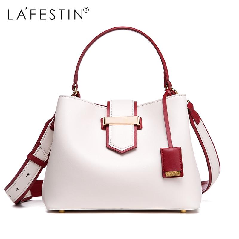 LAFESTIN Women Handbag Designer Luxury Bucket Shoulder Bag Multifunction Bag Tote Handbag Luxury 2018 New brands