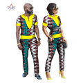 2017 Spring African Couple Clothes 2 Pieces Lovers Couples Clothing Print Dashiki Bazin Riche Plus Size Clothing 6xl BRW WYQ24